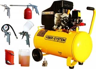 Olejový pístový kompresor VIBER-SYSTEM K50 50l