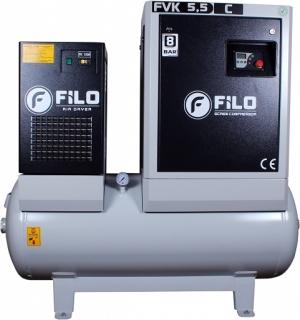 Šroubový kompresor se sušičkou 5,5 kW, verze C 800 l / min 300 l